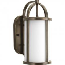 Progress P5719-20 - One Light Antique Bronze Opal Etched Glass Wall Lantern