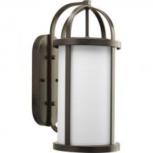 Progress P5728-20 - One Light Antique Bronze Opal Etched Glass Wall Lantern