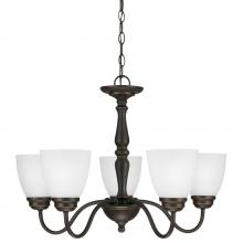 Sea Gull 3112405-191 - Northbrook Five Light Chandelier in Roman Bronze with Satin Etched Glass