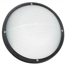 Sea Gull 83057BLE-12 - One Light Outdoor Fluorescent Bulkhead Wall/Ceiling Fixture in Black Finish with Frosted Diffuser