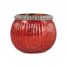 Pomeroy 518584 - Sterlyn 2.8-Inch Medium Votive In Antique Red Artifact